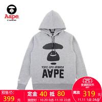 Aape 男装 加绒印花套头连帽卫衣0033XX9/FW-1