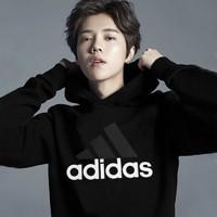 adidas 阿迪达斯 鹿晗同款套头衫 S98772 黑色