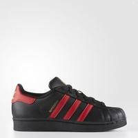 Adidas Superstar 大童黑红金标贝壳头 特价