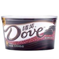 德芙Dove巧克力分享碗装 香浓黑巧克力糖果巧克力休闲零食252g *5件