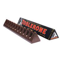 瑞士进口SwissToblerone瑞士三角黑巧克力含蜂蜜及巴旦木糖100g *10件