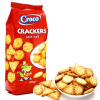 罗马尼亚进口 小鳄鱼香酥咸味饼干400g *10件