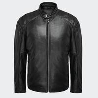 双11预售 : ANDREW MARC 男士立领皮衣夹克