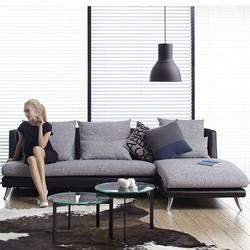 A家家具 ADC-026-2 布艺沙发组合 双人位+贵妃位 双色款可选 *3件