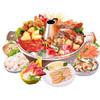 獐子岛 冷冻海鲜贝类组合 910g 6袋 礼盒装(北极贝+北极贝柱+蚬子肉+海螺+赤贝+象拔蚌) 海鲜水产 80元