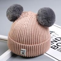 秋冬宝宝毛线帽子