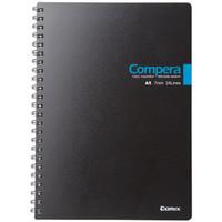齐心(COMIX) CPA5607 双螺旋PP面本/记事本/软抄本 A5 60张 颜色随机 1个装 *5件