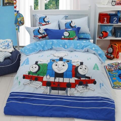 Dohia 多喜爱 儿童卡通全棉磨毛四件套 托马斯和他的朋友们