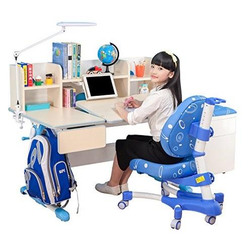 心家宜 M102-M200L 儿童手摇同步升降学习桌椅套装