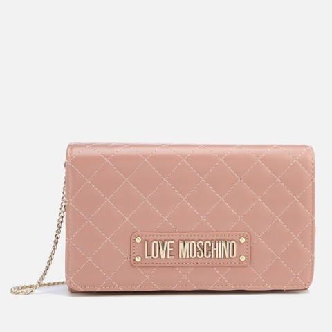 LOVE MOSCHINO QUILTED CHAIN 女士链条包