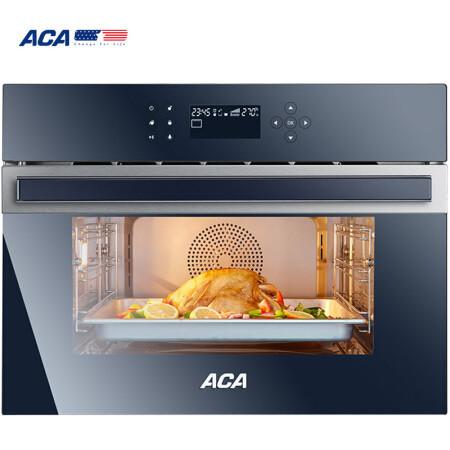 北美电器(ACA) 蒸箱嵌入式STX MAX蒸烤一体家用多功能电烤箱蒸汽炉ATO-EE58A五年质保