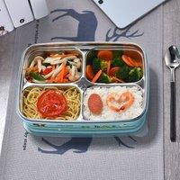 韩国不锈钢饭盒TPE一体四格 *3件